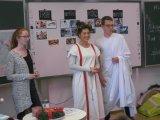 In römischer Kleidung