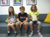 Lesesieger: Charlotte, Niklas, Julia
